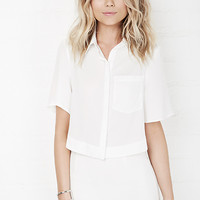 DailyLook: The Fifth Label On The Horizon Shirt in Ivory XS - L