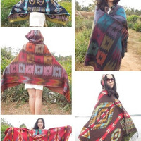fashion  Lady Women Blanket Oversized Tartan Bohemian style Scarf Shawl Pashmina Checked Wrap Cozy = 1928809476