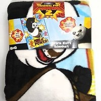 "KUNG FU PANDA 2 Ultra Soft Blanket 30"" x 43"" Throw Blanket Panda Paws of Power !"