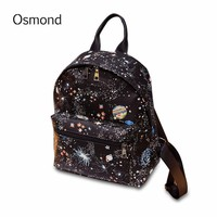 Star Print Backpack School Bags