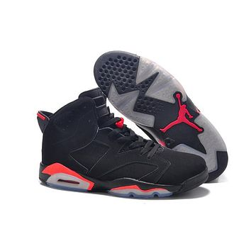 Beauty Ticks Big Size To Special You! Nike Air Jordan 6 Retro Aj6 Black/red Size Us 14 15 16