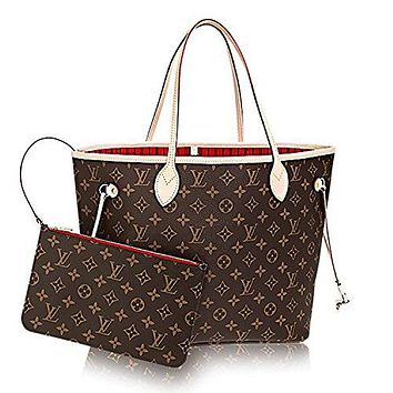 Louis Vuitton Neverfull MM Monogram Canvas Cherry Handbag Article:M41177