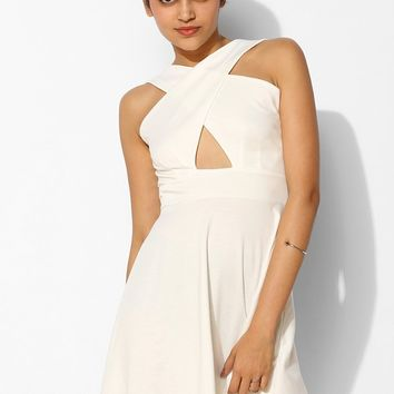Pins And Needles Cross-Front Skater Dress - Urban Outfitters