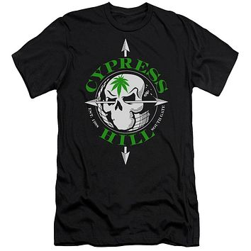 Cypress Hill Slim Fit T-Shirt Skull and Arrows Black Tee