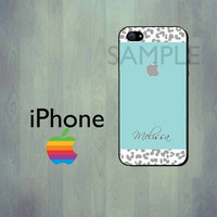 Leopard Print iPhone Case - iPhone 4 Case or iPhone 5 Case - Personalized iPhone Case