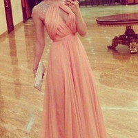 A-Line Prom Dress, Prom Dresses,Long Evening Dress
