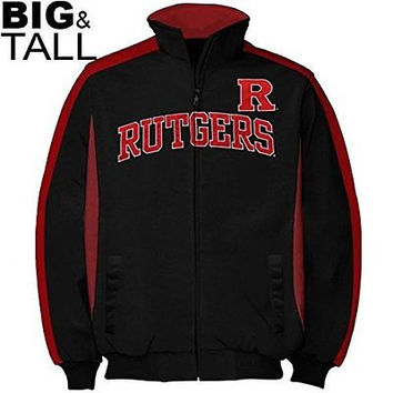 Rutgers Scarlett Knights Tricot Side Panel Full Zip Track Jacket Size XLT
