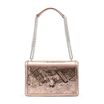 Love Moschino Pink Patent Leather Shoulder Bag