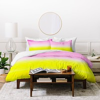 Rebecca Allen When Pink Met Yellow Duvet Cover