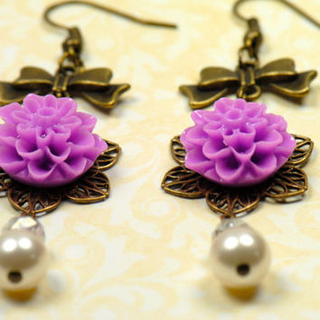 Lilac Earrings-Dahlia Earrings