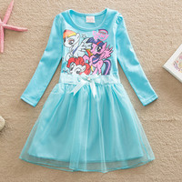 One pca!!2016 summer girls dress Children's clothing baby girls clothes,Girls cute Princess dress,Girls little pony dress