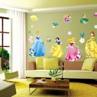 Modern House Disney Princess and Castle Wall Decor Removable Decal Wall Sticker