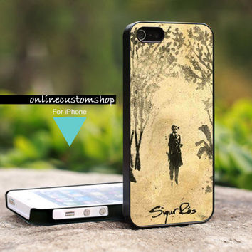 Sigur Ros Beauty Art Cover - Design on Hard Cover For iPhone 4/4s Case - iPhone 5 Case - Black or White (Option)