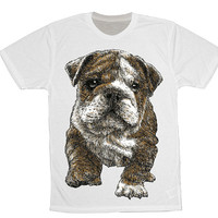 Unisex English Bulldog tshirt, bulldog shirt, bulldog clothing, english bulldog