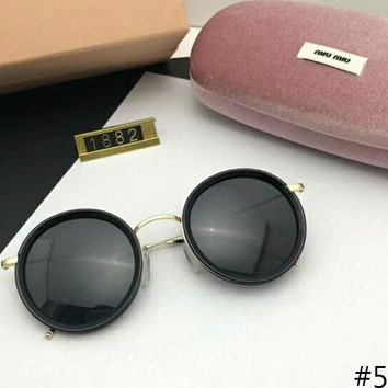 MIUMIU round polarizer with stylish and versatile face F-A-SDYJ #5