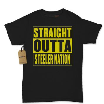 Straight Outta Steeler Nation Football Womens T-shirt