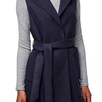 Topshop Sleeveless Belted Coat (Petite) | Nordstrom