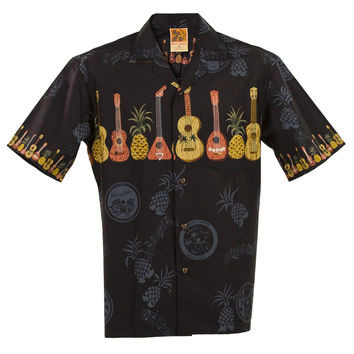 Big & Tall Ukulele Hawaiian Aloha Shirt