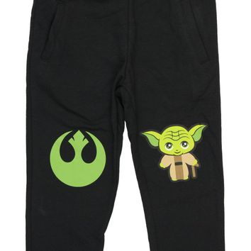 Star Wars Sweatpants Boy's Master Yoda Pants With Pockets Jedi Force