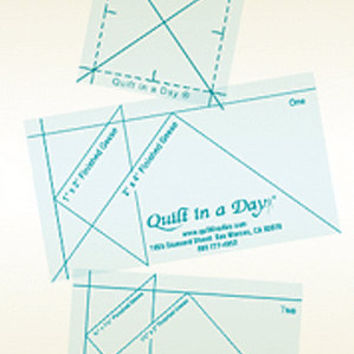 Mini Flying Geese Rulers, Quilt in a Day, Mini Ruler Set