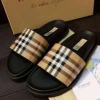 Burberry Women Fashion Simple  Casual Slipper Shoes