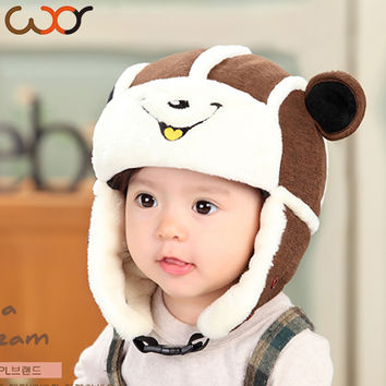 1pc Baby Hats And Caps Kids Boy Girl Pilot Aviator Ear Flap Beanie Hats Winter Cap For Children To Keep Warm Hot Sale