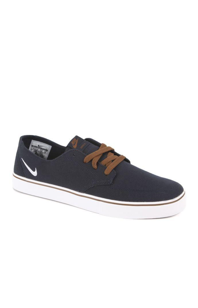 nike sb braata lr canvas navy shoes from pacsun
