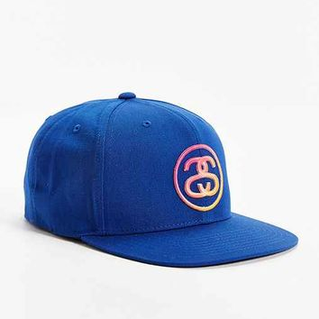 Stussy SS Link Fade Snapback Hat- Blue One