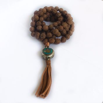 Mala 108 Bodhi Prayer Beads Necklace Seed Seeds Tibetan