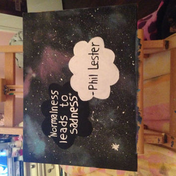 AmazingPhil Quote Galaxy Painting