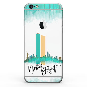 Never Forget 9/11 V1 - Six-Piece Skin Kit for the iPhone 6/6s or 6/6s Plus