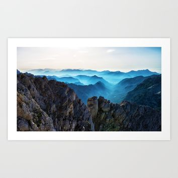 Mountains Breathe Too Art Print by Mixed Imagery