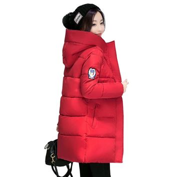 New Long Parkas Female Women Winter Coat Thick Warm Cotton Hooded Jacket Womens Outerwear Parkas for Women Winter Outwear