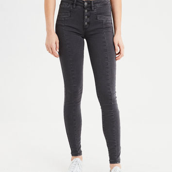AE Ne(X)t Level High-Waisted Jegging, Faded Black