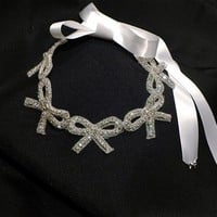 Made to Order - Rhinestone Bow Headband a la Taylor Swift