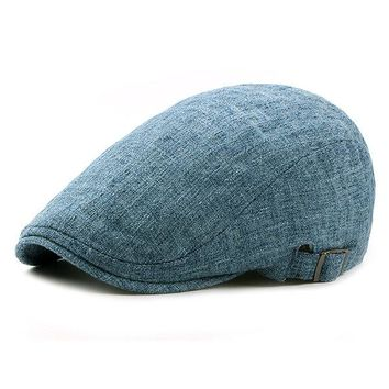 Breathable Flax Beret Cap Gentleman Duck Hat