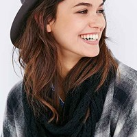 Pointelle Knit Eternity Scarf-