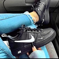 NIKE AIR FORCE 1 07 LOW 2018 new men and women casual fashion wild sports shoes black