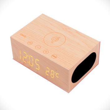 Wireless Wood Charger & Bluetooth Speaker