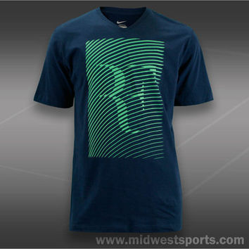 Nike Mens Tennis Shirt, RF Trophy V-Neck T-Shirt 543613-410,  Midwest Sports