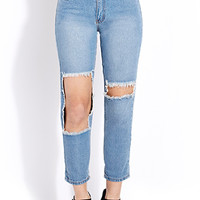 Favorite Destroyed Boyfriend Jeans