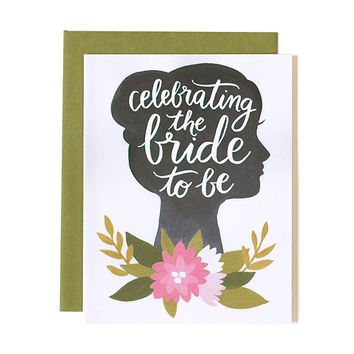 ONE CANOE TWO BRIDE TO BE CARD