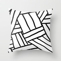 Raw Pattern Series: n.1 Throw Pillow by Micheleficeli