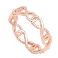 Wraparound Infinity Rose Gold Ring