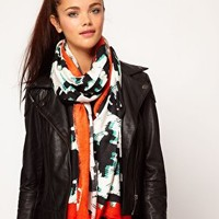 River Island Oversized Dogtooth Scarf at asos.com