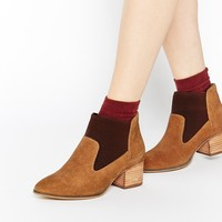 ASOS REEMA Pointed Chelsea Leather Ankle Boots