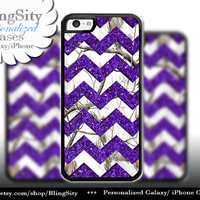 Monogram iPhone 5C 6 Plus Case White Snow Camo Purple Sparkle Chevron iPhone 5s 4 case Ipod Real Tree Country Girl *Not Actual Glitter
