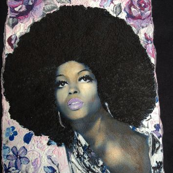 Diana Ross T-shirt Painted 3d Diana tee Diana Ross 's Face T-Shirt