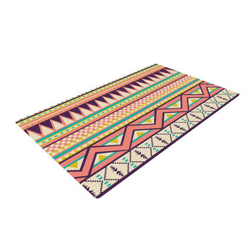 "Louise Machado ""Ethnic Love"" Tribal Geometric Woven Area Rug"
