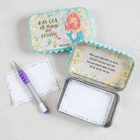 With God All Things Are Possible Mermaid Prayer Box By Natural Life